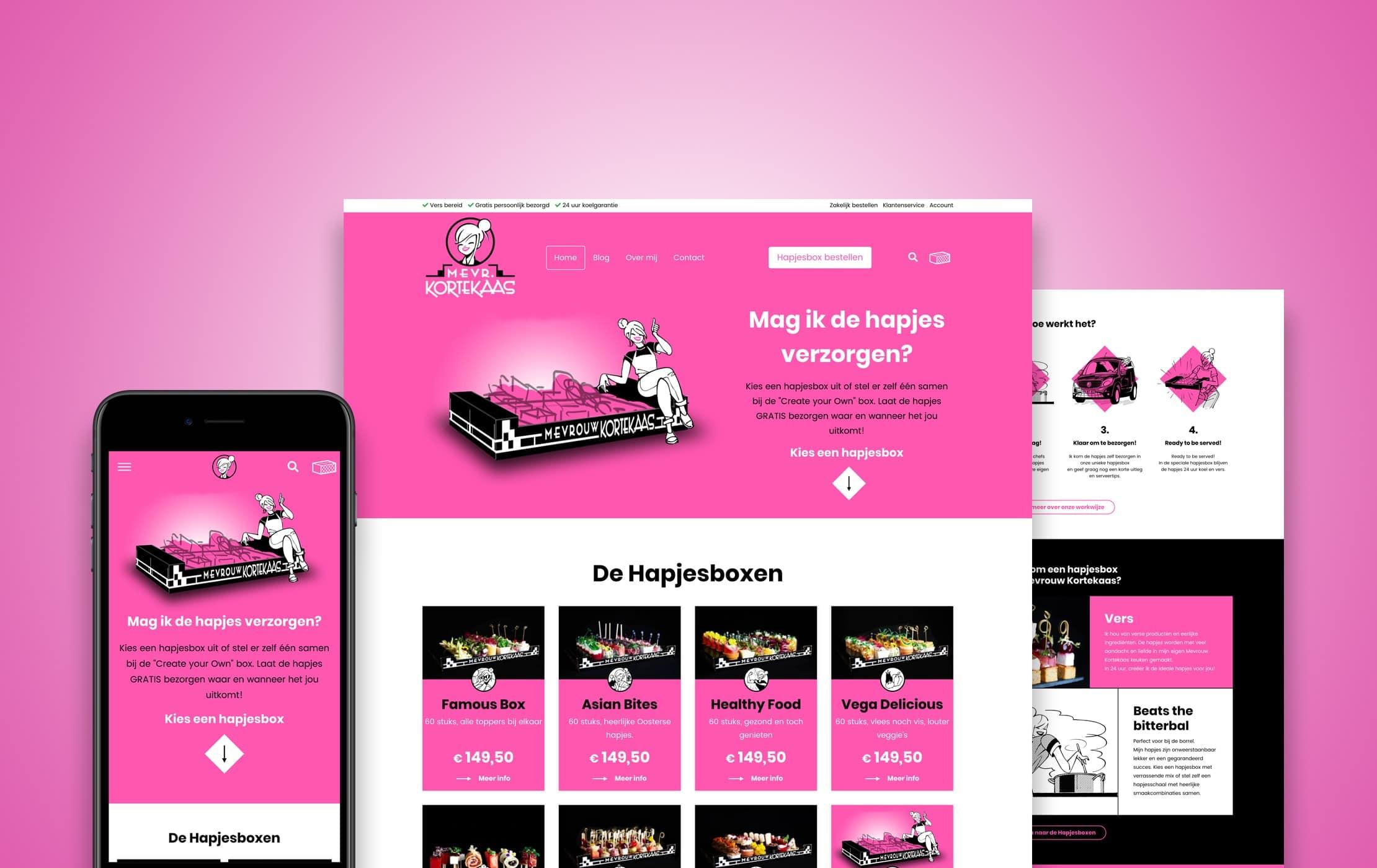 WooCommerce webshop Mevrouw Kortekaas Dreamlab portfolio