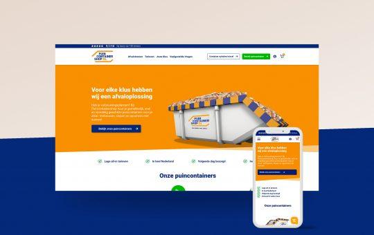 Maatwerk WooCommerce webshop voor Puincontainershop